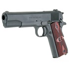"Auto-Ordnance WWII Parkerized GI Military Mil-Spec Configuration 1911 Pistol Stamped Model 1911A1 U.S. Army 5"" Barrel Chambered in .45 ACP U.S. Logo Wood Checkered Grips 7 Round Magazine"