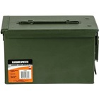 "Blackhawk! Steel Ammo Can M2A1 .50 Caliber Military Government Surplus Graded New Unissued Watertight Rubber Gasket Seal Durable All Metal Lockable Construction 11""x7""x5.5"" Single Ammo Can"