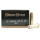 CCI Blazer Brass Ammunition .357 MAG ( Magnum ) 158 Grain Jacketed Hollow Point Bullet 1250 FPS Velocity at the Muzzle Brass Reloadable Boxer Primed Cartridge Case Box of 50 Rounds