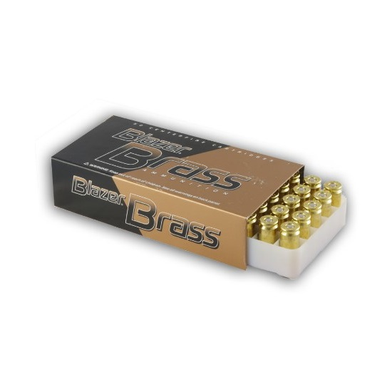 CCI Blazer Brass Ammunition  40 S&W ( Smith & Wesson ) 180 Grain Full Metal  Jacket Flat Nose Bullet 985 FPS Velocity at the Muzzle Brass Reloadable