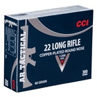 CCI Rimfire Ammunition AR Tactical Target .22 Long Rifle ( 22 LR ) 40 Grain Copper Plated Lead Round Nose Bullet 1200 FPS High Velocity Super Sonic at the Muzzle Brass Cartridge Case Box Of 300 Rounds