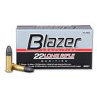 CCI Rimfire Ammunition Blazer Target .22 Long Rifle ( 22 LR ) 40 Grain Lead Round Nose Bullet 1235 FPS High Velocity Super Sonic Velocity At The Muzzle Brass Cartridge Case Bulk Pack Box Of 500 Rounds