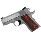 "COLT Defender 1911 Compact .45 ACP Stainless Steel Slide and Aluminum Frame 3"" Bull Barrel Novak Carry Sights with White Dots Upswept Beavertail Safety Enhanced Hammer Slim Wood Grips 8 Round Magazine"