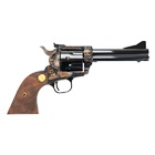 COLT Firearms Single Action Army New Frontier Revolver .45 Long Colt 4.75 Inch Blued Barrel Color Case Hardened Frame Target Ramp Front Sight And Fully Adjustable Rear Sight Walnut Wood COLT Grips