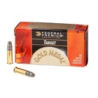 Federal Premium Rimfire Ammunition Gold Medal Match .22 Long Rifle ( 22 LR ) 40 Grain Lead Round Nose Solid Bullet Brass Cartridge Case SubSonic 1080 FPS At Muzzle Box Of 500 Round Bulk Pack