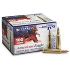 Federal Premium Ammunition American Eagle .223 REM ( Remington ) 55 Grain FMJ BT ( Full Metal Jacket Boat Tail ) 3240 FPS Muzzle Velocity Brass Reloadable Boxer Primed Cartridge Case Box of 100 Rounds