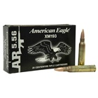 Federal Premium Ammunition American Eagle Lake City 5.56mm XM193 5.56x45mm NATO 55 Grain Full Metal Jacket Boat Tail ( FMJ BT ) 3165 FPS Brass Reloadable Boxer Primed Cartridge Case Box of 20 Rounds
