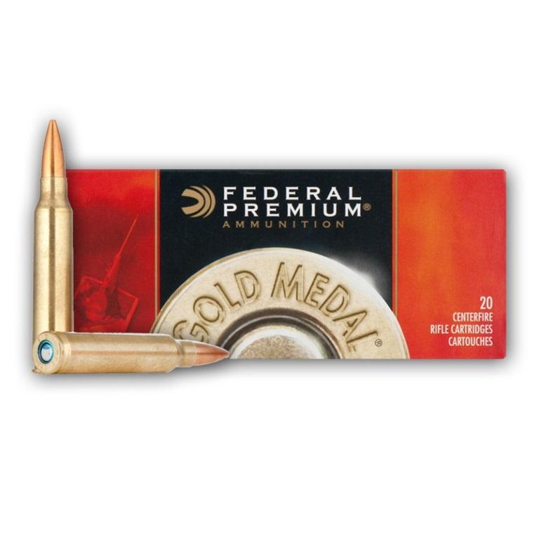 Federal Premium Ammunition Gold Medal Match  223 REM 69 Grain Sierra  Matchking BTHP Bullet 3000 FPS Velocity at the Muzzle Brass Reloadable  Boxer