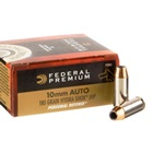 Federal Premium Ammunition Personal Defense 10mm Auto 180 Grain Hydra-Shok JHP 1030 FPS Velocity at the Muzzle Nickel Plated Brass Reloadable Boxer Primed Cartridge Case Box of 20 Rounds