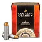 Federal Premium Ammunition Personal Defense .38 Special +P 129 Grain Hydra-Shok JHP 950 FPS Velocity at the Muzzle Nickel Plated Brass Reloadable Boxer Primed Cartridge Case Box of 20 Rounds