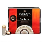 Federal Premium Ammunition Personal Defense Low Recoil .380 ACP 90 Grain Hydra-Shok JHP 1000 FPS Velocity at the Muzzle Nickel Plated Brass Reloadable Boxer Primed Cartridge Case Box of 20 Rounds