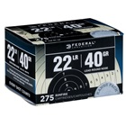Federal Premium Ammunition Rimfire .22 Long Rifle ( 22 LR ) 40 Grain Lead Round Nose Bullet 1200 FPS High Velocity Super Sonic At Muzzle Brass Cartridge Case Target Range Bulk Pack 275 Rounds
