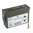 Federal Premium Ammunition XM193 5.56x45mm NATO 55 Grain Full Metal Jacket Boattail Lead Core Bullet 3240 FPS Velocity at the Muzzle Brass Reloadable Boxer Primed Cartridge Case Ammo Can Of 420 Rounds