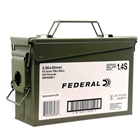 Federal Premium Ammunition XM193 5.56x45mm NATO 55 Grain Full Metal Jacket Boattail Lead Core Bullet 3240 FPS Velocity Brass Reloadable Boxer Primed Cartridge Case USA Military Ammo Can Of 400 Rounds