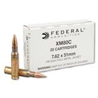 Federal Premium Ammunition Lake City Army Ammunition Plant XM80 Military Grade 7.62x51mm NATO 149 Grain FMJ ( Full Metal Jacket ) Brass Reloadable Boxer Primed Cartridge Case Box of 20 Rounds