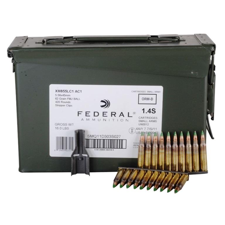 federal premium ammunition xm855 5 56x45mm nato 62 grain ss109 steel