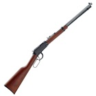 Henry Repeating Arms Frontier Lever Action Rifle Chambered .22 LR ( 22 Long Rifle ) 20 Inch Octagon Barrel Brass Bead Front Fully Adjustable Sights Matte Blued Finish American Walnut Stock 16 Rounds