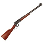Henry Repeating Arms Classic Lever Action Rifle Chambered .22 LR ( 22 Long Rifle ) 18.25 Inch Barrel Hooded Blade Front Fully Adjustable Rear Sights Matte Blued Finish American Walnut Stock 15 Rounds