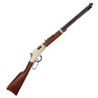 Henry Repeating Arms Golden Boy Lever Action Rifle Chambered .22 LR ( 22 Long Rifle ) 20 Inch Octagon Barrel Brass Bead Front Fully Adjustable Sights Matte Blued Finish American Walnut Stock 16 Rounds