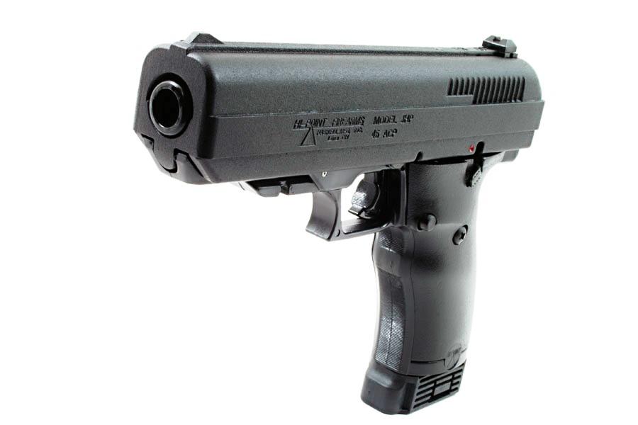 Hi-Point Firearms JHP  45 ACP Pistol Black Polymer Frame Yellow