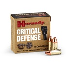 Hornady Critical Defense Ammunition 9mm Luger 115 Grain FTX Flex Tip eXpanding Bullet Brass Cartridge Case Box of 25 Rounds
