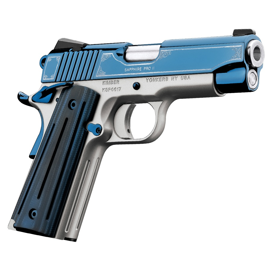 Kimber Sapphire Pro II Special Edition 9mm Luger Bright Blue Slide