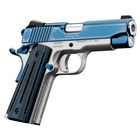 "Kimber Sapphire Pro II Special Edition 9mm Luger Bright Blue Slide Engraved Satin Silver Aluminum Frame 4"" Stainless Steel Barrel Tactical Wedge Rear and Front Night Sights G10 Grips 9 Round Magazine"