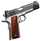 Kimber Custom II Two-Tone 1911 .45 ACP Black Polished Steel Slide 5 Inch Stainless Steel Match Grade Barrel Full Length Guide Rod Low Profile Sights Polished Stainless Steel Frame 7 Round Magazine