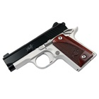 "Kimber Micro9 9mm Luger 3.15"" Stainless Steel Match Grade Barrel Matte Black Steel Slide Aluminum Satin Sliver Frame Black Ramped Sights Match Grade Solid Trigger Rosewood Grips 6 Round Magazine"