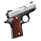 Kimber Micro Carry CDP Chambered .380 ACP Satin Stainless Steel Slide and Black Aluminum KimPro II Frame 2.75 Inch Barrel Fixed Low Profile Sights Rosewood Double Diamond Grips 6 Round Magazine