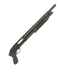 Mossberg Tactical 500 Shotgun Cruiser 12 GA 3 Inch Chamber 18.5 Inch Heat Shield Cylinder Bore Barrel Brass Bead Sight Matte Blue Finish Black Synthetic Ribbed Forearm and Pistol Grip 6 Round Capacity