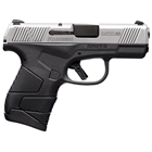 Mossberg Firearms MC1sc Subcompact Two Tone Pistol 9mm Luger 3.4 Inch Barrel Stainless Steel Slide White Dot Sights Flat Trigger Black Frame Palm Swell 6 Round Flush Fit And 7 Round Extended Magazines