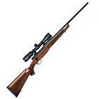 Mossberg Patriot Rifle Chambered .270 WIN 22 Inch Fluted Barrel Spiral Fluted Bolt Matte Blued Finish Detachable Box Magazine Walnut Wood Stock Combo with Vortex Crossfire II 3-9x40mm Scope