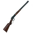 Mossberg Lever Action 464 Centerfire Rifle Chamber .30-30 WIN 20 Inch Barrel Brass Bead Front Sight Adjustable Rear Sight Matte Blued Finish Walnut Checkered Pistol Grip Stock 7 Round Capacity