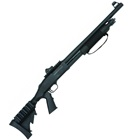 Mossberg Tactical 500 Shotgun 12 GA 3 Inch Chamber 18.5 Inch Cylinder Bore Barrel Ghost Ring Rear and Fiber Optic Front Sights Matte Blued Finish Black Synthetic 6 Position Side Saddle Stock 6 Round