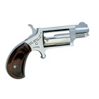 "North American Arms Mini Revolver Lightweight Compact Pistol Ideal for Concealed Carry Chambered in .22 MAG with a 1 1/8"" Barrel 5 Shot Cylinder Fixed Sights with Real Wood Slim Line Grips"