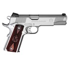 "Springfield Armory Loaded 1911 Stainless Steel .45 ACP 5"" Barrel Low Profile Combat 3 Dot Sights 7 Round Magazine Cocobolo Wood Grips"