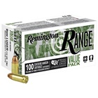 Remington Handgun Range Ammunition 9mm Luger ( 9x19 ) 115 Grain Full Metal Jacket FMJ Round Nose Bullet 1150 FPS Muzzle Velocity Brass Reloadable Boxer Primed Cartridge Case 600 Round Bulk Case Pack