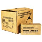 Remington Arms Company Ammunition Military / Law Enforcement 9mm Luger 115 Grain Full Metal Jacket Round Nose Bullet 1145 FPS Muzzle Velocity Brass Reloadable Boxer Primed Cartridge Case 500 Rounds