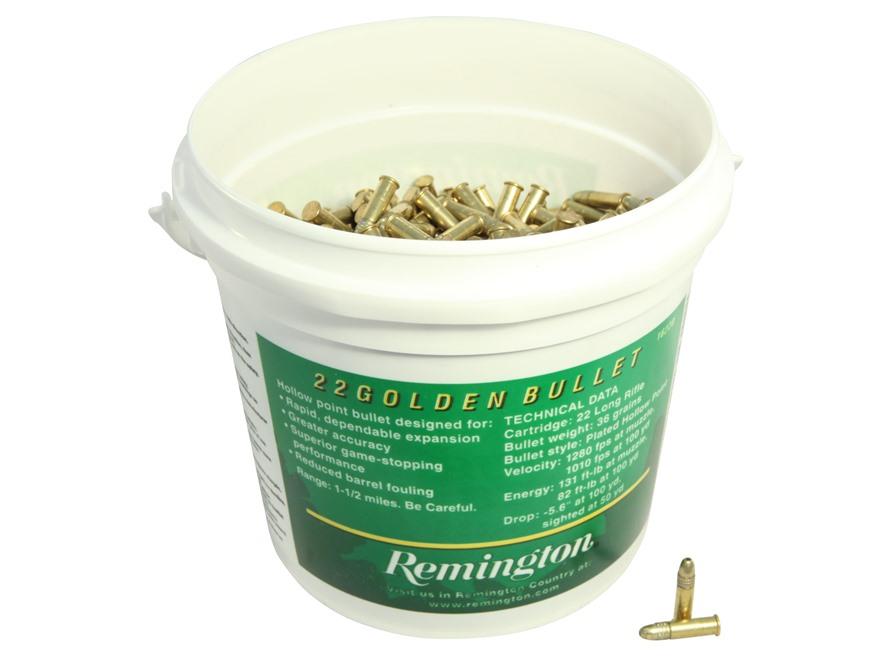 remington rimfire ammunition 22 golden bullet bucket o bullets 22