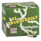 Remington Rimfire Ammunition 22 Thunderbolt .22 Long Rifle ( 22 LR ) 40 Grain Lead Round Nose Bullet High Velocity 1255 FPS at The Muzzle Box of 500 Round Bulk Pack