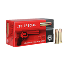 Ruag Ammotec Geco Ammunition .38 SPL ( Special ) 158 Grain FMJ FN ( Full Metal Jacketed Flat Nose ) Brass Reloadable Boxer Primed Cartridge Case Box Of 50 Rounds