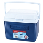 Rubbermaid 10 Quart Personal Victory Chest 12 Pack Storage Capacity Ice Cooler Top Swing Handle Superior Thermal Double Wall Tight Seal Construction Easy To Clean Stain And Odor Resistant Pacific Blue