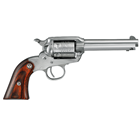 Ruger New Bearcat Single Action Revolver Chambered .22 LR ( 22 Long Rifle ) 4.2 Inch Cold Hammer Forged Barrel Integral Fixed Sights Satin Stainless Steel Cylinder And Frame Hardwood Grip 6 Rounds