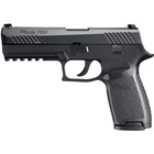 Sig Sauer P320 Full Size 320 4.7 Inch Barrel Chambered in 9mm Luger Stainless Steel Slide with Nitron Black Finish Striker Fire Action Interchangeable Black Polymer Medium Frame 17 Round Magazine