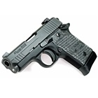 Sig Sauer P938 Compact 938 3.0 Inch Barrel Chambered in 9mm Luger Stainless Steel Slide with Black Nitron Finish SIGLITE Night Sights Black Anodized Steel Frame G10 Grips 7 Round Extended Magazine