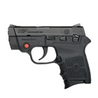 Smith & Wesson M&P Bodyguard 380 .380 ACP Black Steel Slide 2.75 Inch Stainless Steel Barrel Low Profile Sights Manual Thumb Safety Crimson Trace Laser Black Textured Polymer Frame 6 Round Magazine
