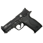Smith & Wesson M&P22 Compact .22 LR ( 22 Long Rifle ) 3.5 Inch Carbon Steel Barrel Black Armornite Aluminum Slide Black Polymer Frame Manual Thumb Safety White Dot Front Rear Sights 10 Round Magazine