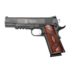 "Smith & Wesson SW1911 E-Series .45 ACP 5"" Barrel Black Stainless Steel Slide and Frame Front and Rear Fish Scale Serrations Low Profile Tritium Night Sights Wood Laminate Grips 8 Round Magazine"
