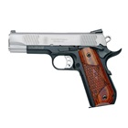 "Smith & Wesson SW1911Sc E-Series .45 ACP 5"" Barrel Two Tone Stainless Steel Slide and Scandium Alloy Frame with Black Anodized Finish Tritium Night Sights Wood Laminate Grips 8 Round Magazine"